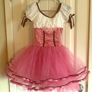 Pink and white ballet costume